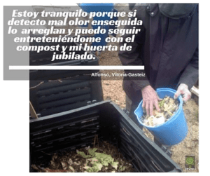Abono organico Cliente y abuelo Ekaia Eko Compost